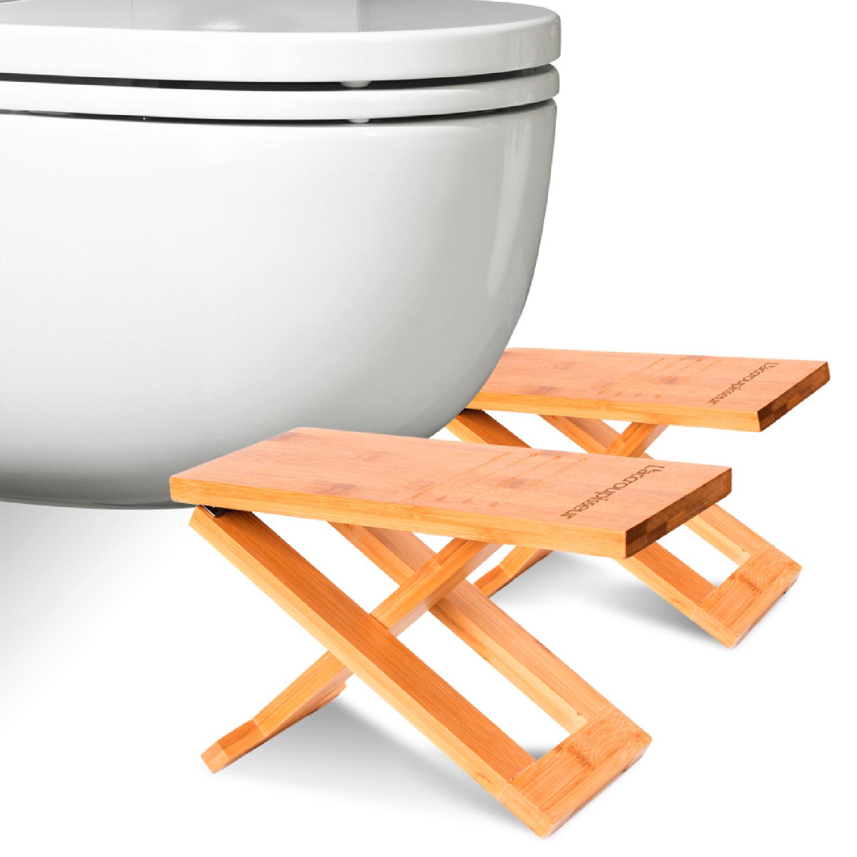 tabouret wc accroupisseur bois bambou toilettes