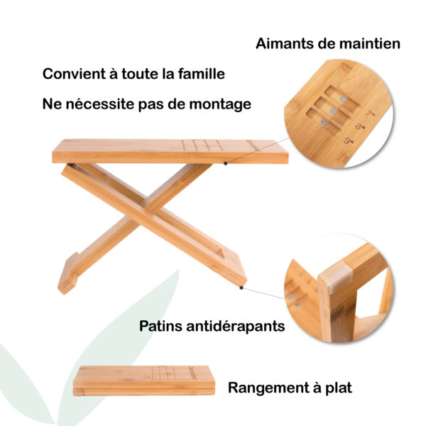description tabouret wc bois