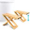 tabouret toilette bois accroupisseur bambou